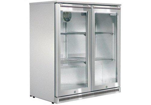 Husky Edelstahl-Kühlschrank mit zwei Türen im Freien 170 Liter