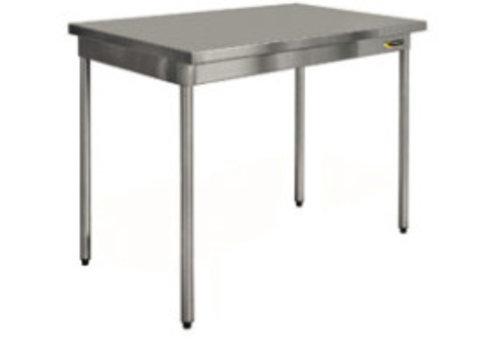 HorecaTraders RVS Werktafel op poten   70 cm diep   8 formaten