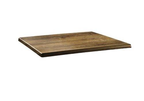 HorecaTraders Table top Rectangular   Cherry wood   2 formats