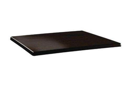 HorecaTraders Table top Rectangular   Wengé   2 formats