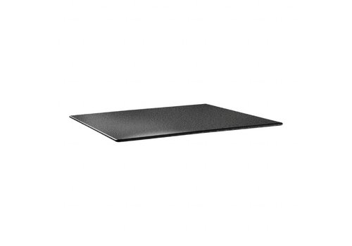 HorecaTraders Tischplatte 120 x 80 cm Anthrazit