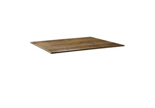 HorecaTraders Table top 120 x 80 cm Cherry wood