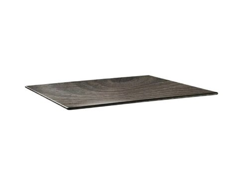 HorecaTraders Tischplatte 120 x 80 cm Holz
