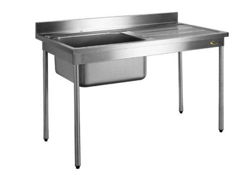 HorecaTraders Spoeltafel zonder gootsteenafdekking | 60 cm Breed | 2 formaten