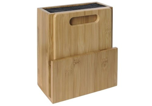 HorecaTraders Universal wooden knife block and cutting board