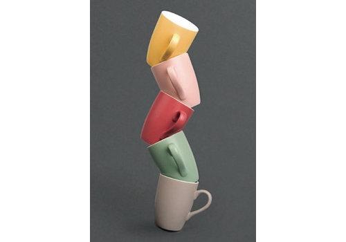 HorecaTraders Colored mugs 6 pieces