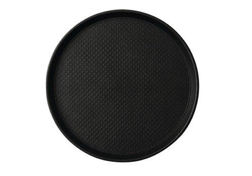 HorecaTraders Round Anti-slip tray Black 2 formats