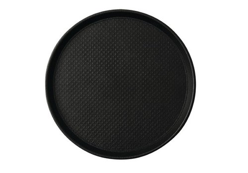 HorecaTraders Round Anti-slip tray Black 2 formats