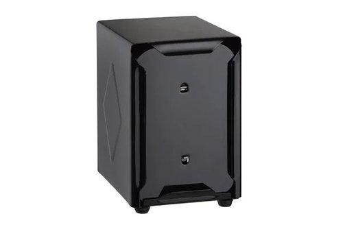 HorecaTraders Napkin dispenser   Stainless steel   Black