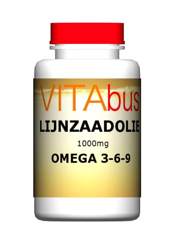 Lijnzaadolie 1000 mg 100 of 200 capsules