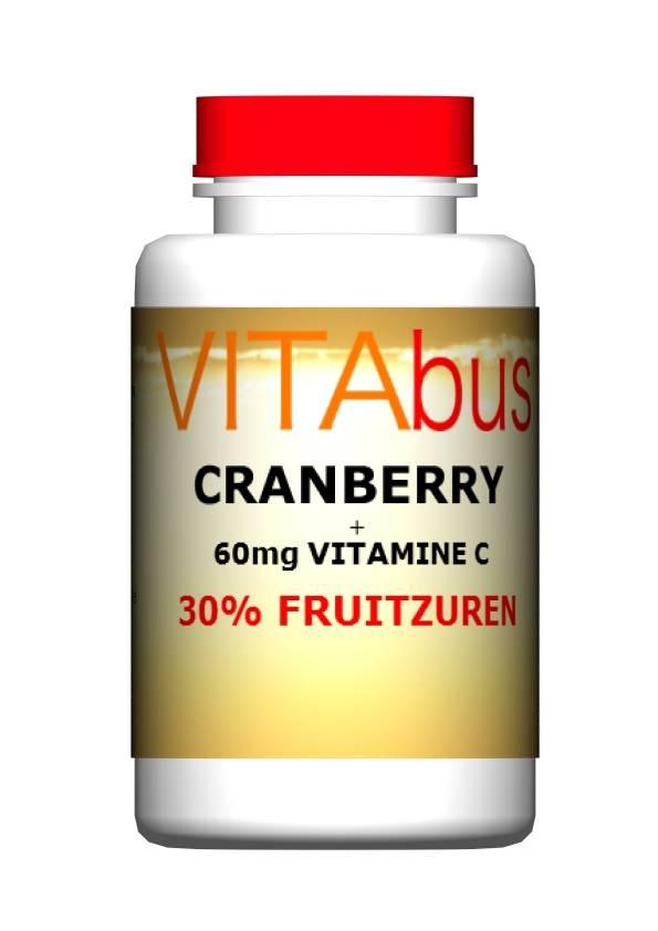 Cranberry met Vitamine C 60 of 150 capsules