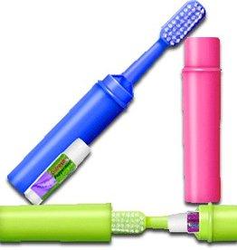 Tandenborstel met tandpasta per 3 stuks