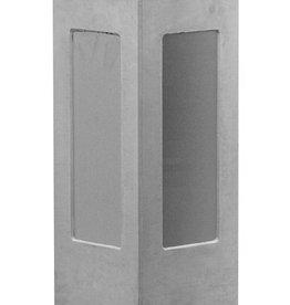 Sokkel grijs met RVS platen hoogte 75 cm, beton