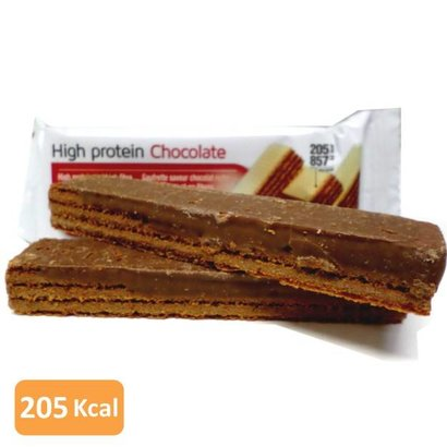 High protein chocolate wafer