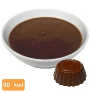 Proteïne flan chocolade smaak