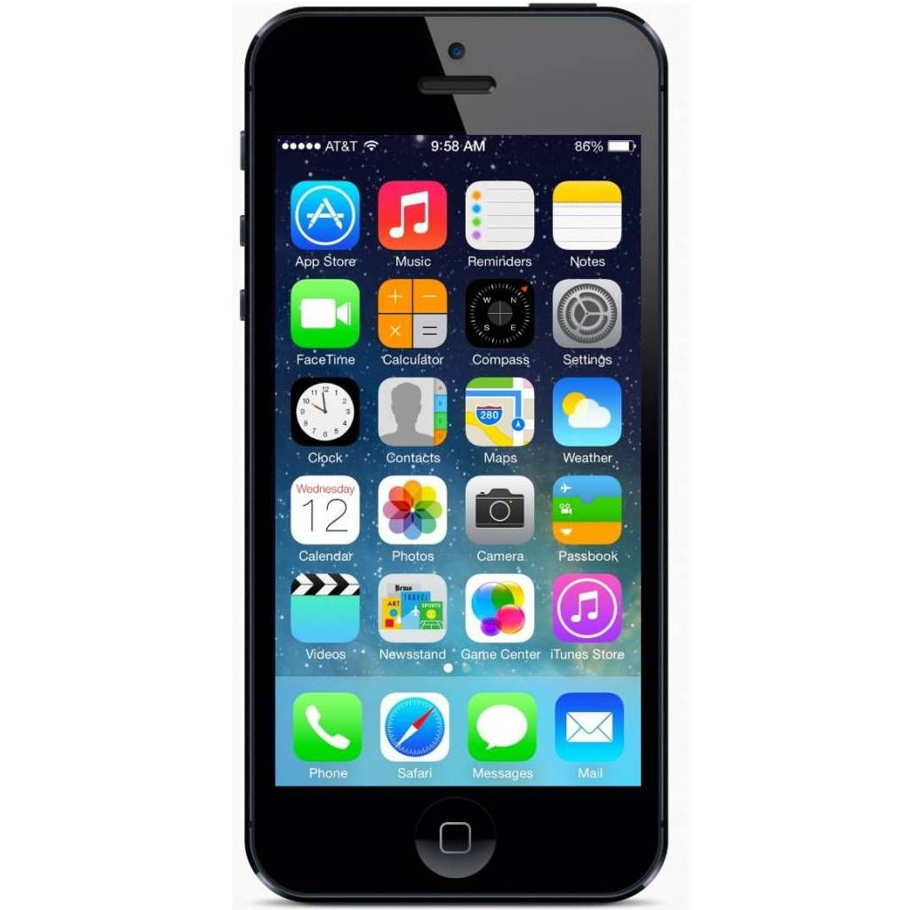 apple iphone 5 16gb zwart simlock vrij refurbished. Black Bedroom Furniture Sets. Home Design Ideas