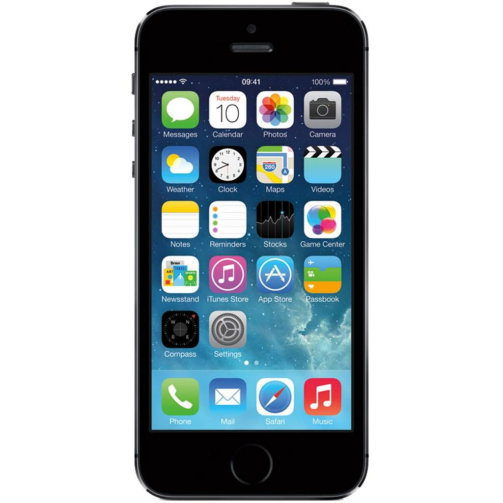 refurbished iphone 5s 32gb zwart simlock vrij. Black Bedroom Furniture Sets. Home Design Ideas