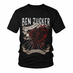 """Ben Zucker Herren-Shirt """"Wofür hat man ein Herz..."""""""
