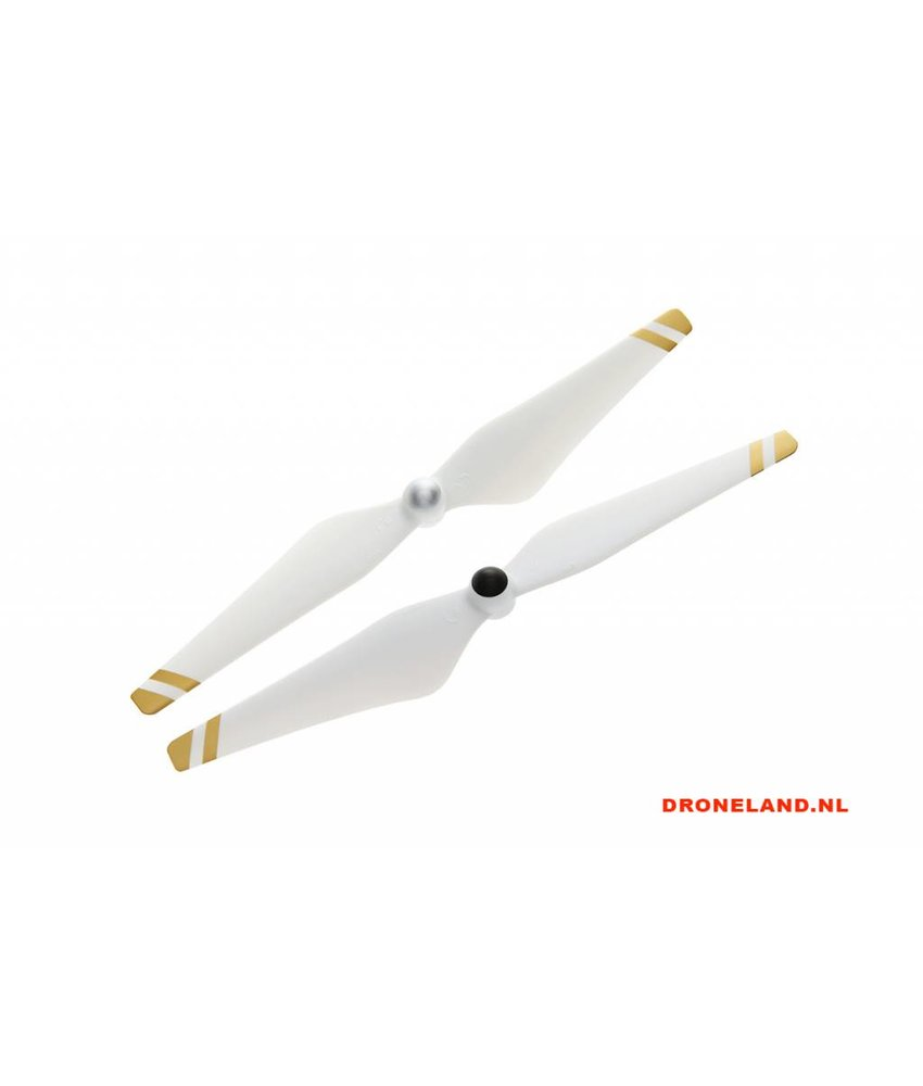 DJI 9450 Self Tightening Propellor 1CW + 1CCW White With Gold Stripes