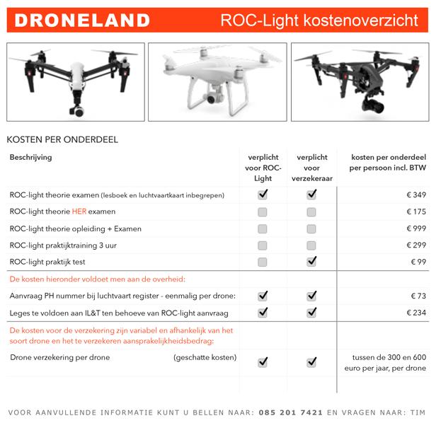 ROC-light tarieven
