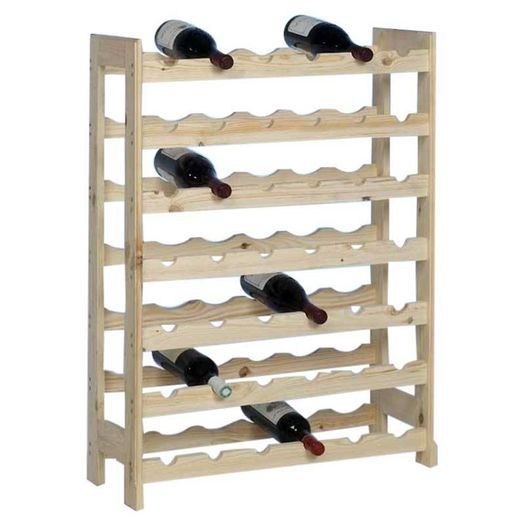 Houten wijnrek 42 flessen