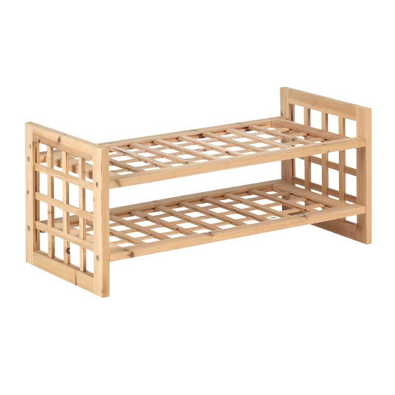 Schoenenrek hout opbergspecialist - Muurbekleding houten badkamer ...
