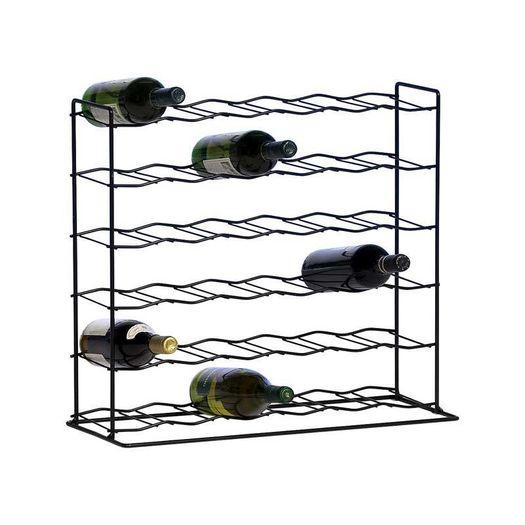 Metalen wijnrek 36 flessen