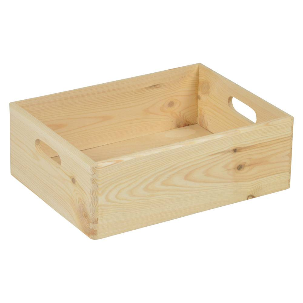 opbergspecialist houten opbergkist 14 x 40 x 30 cm. Black Bedroom Furniture Sets. Home Design Ideas