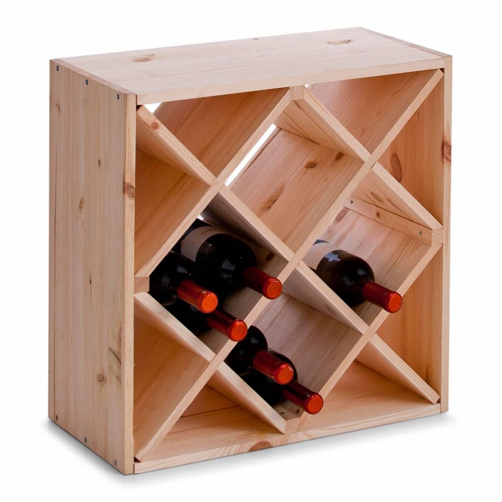 houten wijnrek met schuine vakken opbergspecialist. Black Bedroom Furniture Sets. Home Design Ideas