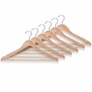 Houten kledinghangers (6 stuks)