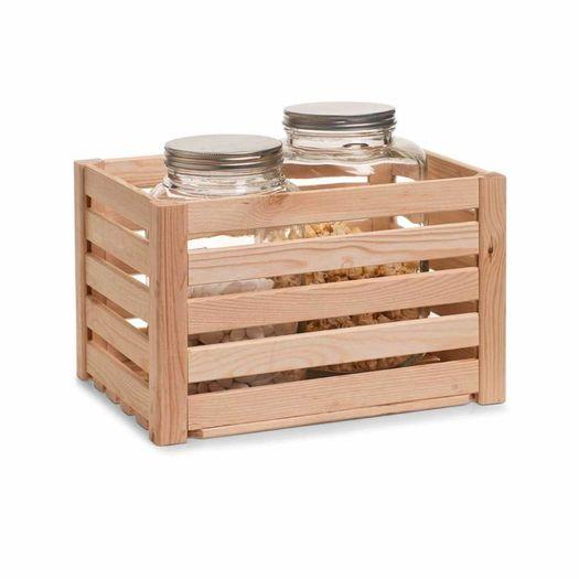 Houten krat vintage wit 20 liter opbergspecialist - X houten ...