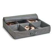 Stoffen schoenenbox met kijkvenster