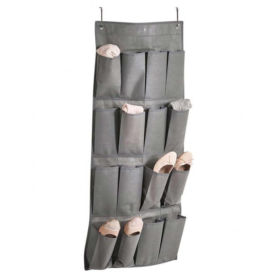 Zeller Present Stoffen schoenenzak met 16 vakken