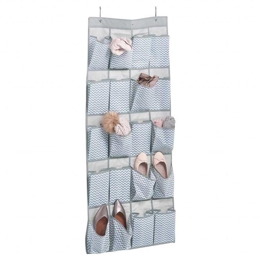 Zeller Present Stoffen schoenenzak zigzag met 20 vakken