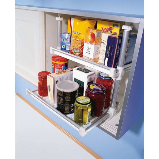 Keukenkast opbergsysteem 2 etages uitschuifbaar