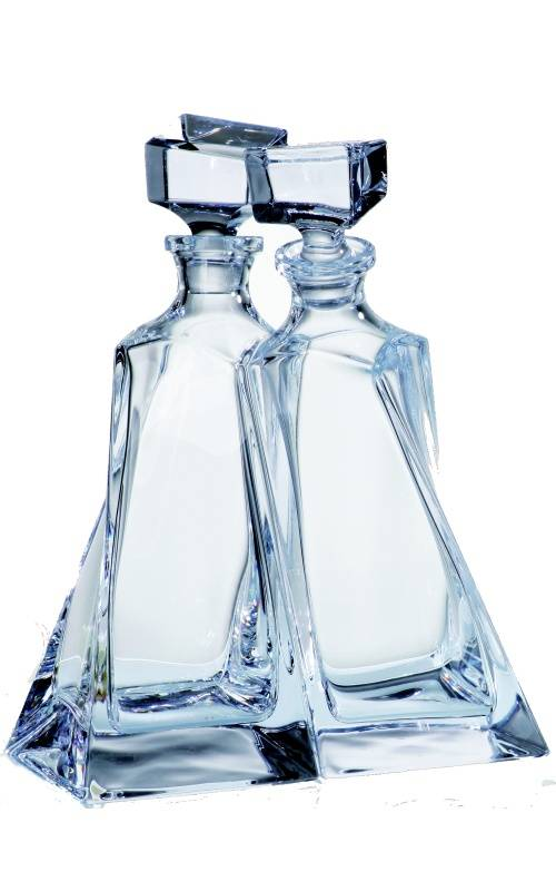 Crystalite Lover set van 2 karaffen whisky of likeur.
