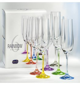 Crystalex Rainbow Champagne 190ml