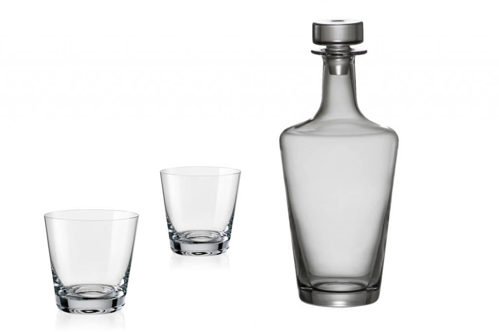 Jive Whisky set 3 delig . Karaf + 2 whiskyglazen