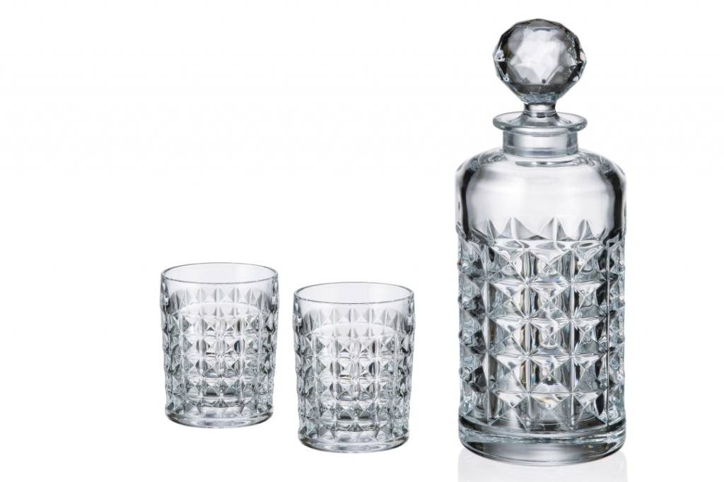 Crystalite Whiskyset Diamand 3 delig