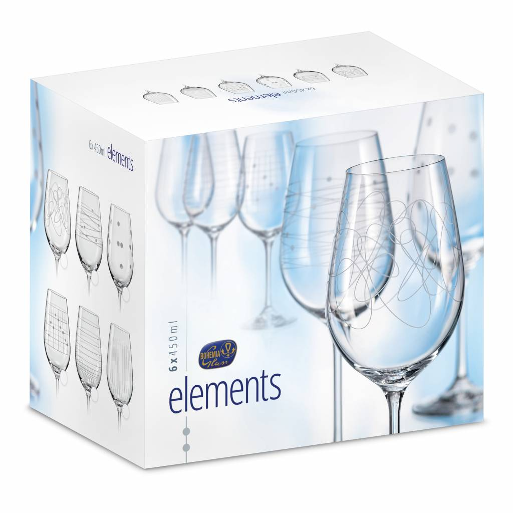Elements Wijnglazen 450ml
