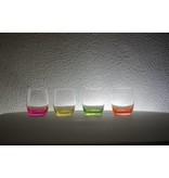 Neon waterglazen 300ml