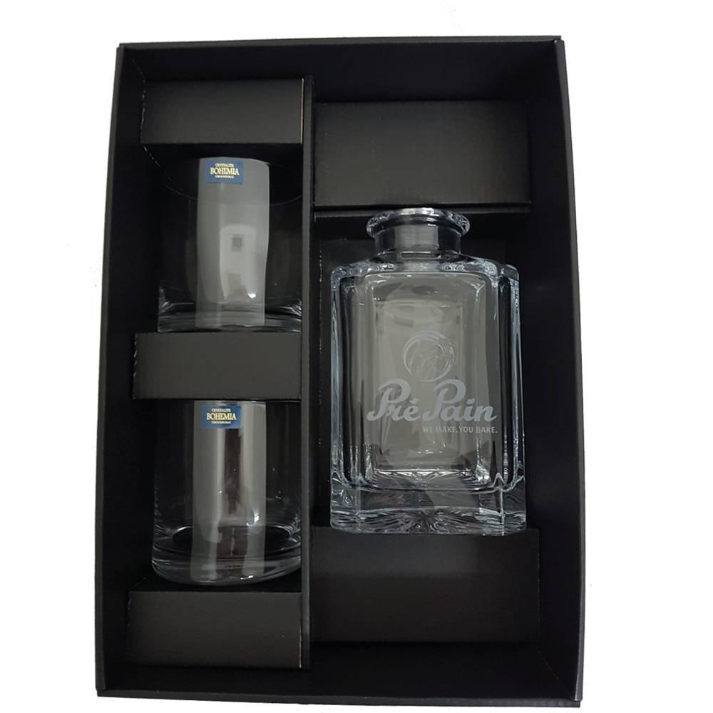 Cadeauverpakking whisky sets Lege luxe cadeaudoos klein  t.b.v. whisky set: karaf + 2 glazen
