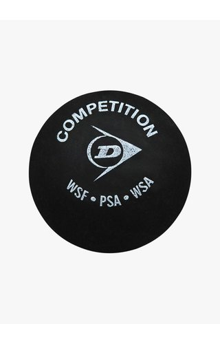 Dunlop Competition Squash Ball (single yellow dot)