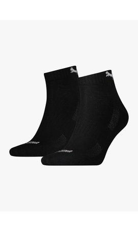 Puma Cushioned Quarter Socks - 2 Pack - Black