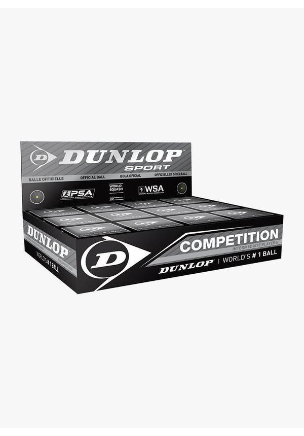 Dunlop Competition Squash Ball (single yellow dot) - Box of 12