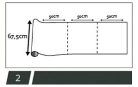 zelfklevend raamfolie 67,5cm