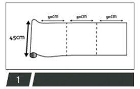 statisch raamfolie 45cm