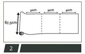statisch raamfolie 67,5cm