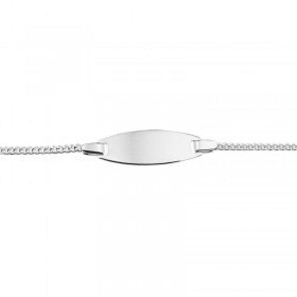 Zilveren plaat armband ovaal