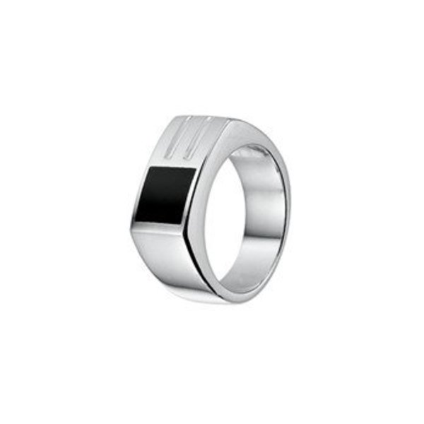 zilver ring onyx